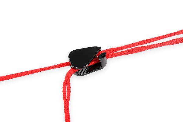 Spannleine für Volleyballnetze, mit Schnellspannelement